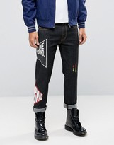 Love Moschino Slim Fit Printed Jeans