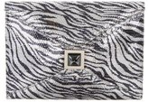 Kara Ross Embellished Printed Clutch