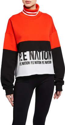 P.E Nation Real Challenger Turtleneck Sweatshirt