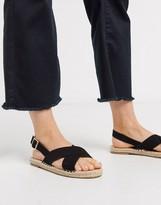 Truffle Collection cross strap espadrille sandal