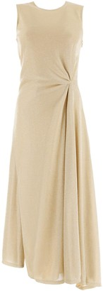 Lanvin Lurex Draped Dress