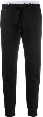 Koral Station logo band track trousers