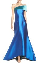 Sachin + Babi Women's One-Shoulder Jacquard Ballgown