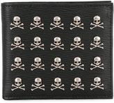 Philipp Plein wallet with skull appliqués - men - Calf Leather - One Size
