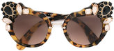 Miu Miu cat eye sunglasses - women - Acetate/Crystal/metal - One Size