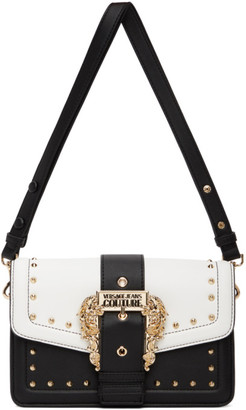 Versace Jeans Couture Black and White Couture 1 Buckle Bag