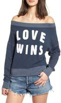 Sundry Love Wins Off the Shoulder Pullover