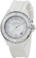 Akribos XXIV Women's AK502WT Ceramic Case with White Rubber Strap Watch