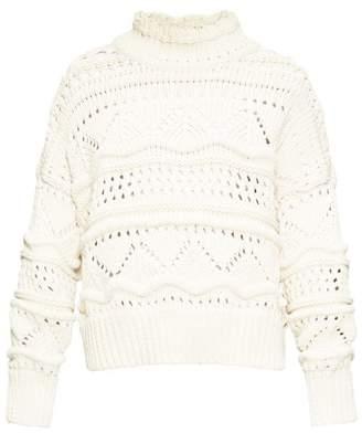 Etoile Isabel Marant Naka High-neck Cable-knit Sweater - Womens - Ivory