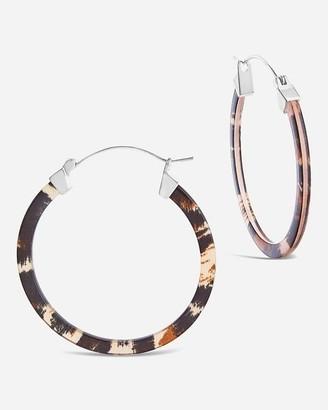 Express Sterling Forever Silver Resin Hoop Earrings
