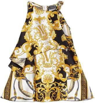 Versace Baroque Print Silk Dress