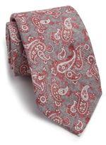 Isaia Paisley Silk & Wool Tie