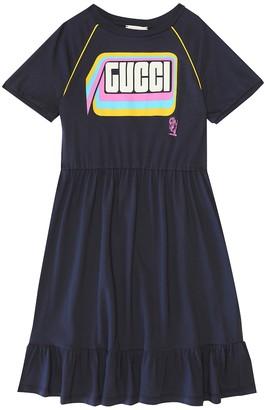 Gucci Kids Logo cotton dress