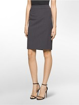 Calvin Klein Straight Suit Skirt