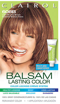 Clairol Balsam Color Liquid Haircolor Light Bronze Brown 608B