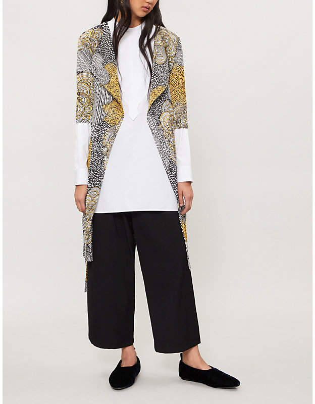 Pleats Please Issey Miyake Mass floral-print pleated coat