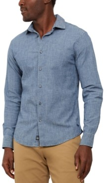 Dockers Alpha Regular-Fit Supreme Flex Performance Stretch Chambray Shirt