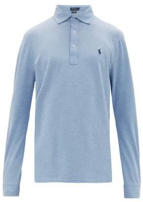 Polo Ralph Lauren Logo-embroidered Cotton-blend Polo Shirt - Mens - Blue