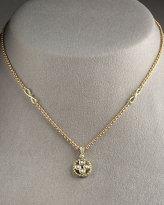 Signature Gold Diamond Circle-Pendant Necklace