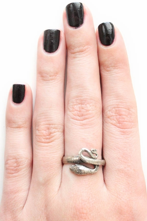 Jens Pirate Booty Serpent Ring in Silver
