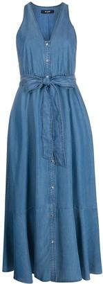 Twin-Set Tie-Waist Denim Dress