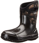 Bogs Women's Classic Watercolor Mid Waterproof Insulated Boot, Black Multi