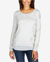 Lucky Brand Patterned Contrast-Hem Sweater