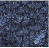 Corneliani Paisley Print Silk Pocket Square