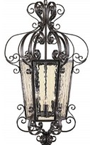 Laurinda 3 - Light Lantern Geometric Chandelier with Wrought Iron Accents Astoria Grand