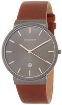 Skagen Men's Ancher Leather Strap Watch