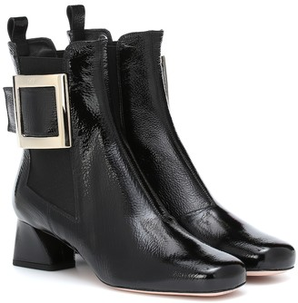 Roger Vivier Tres Vivier patent leather ankle boots