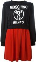 Moschino layered sweatshirt dress