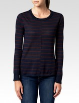 Paige Allie Sweater - Midnight Bordeaux Stripe