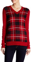 Joe Fresh Plaid V-Neck Pullover