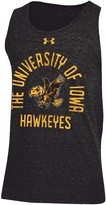 Under Armour Men's Black Iowa Hawkeyes Performance Tri-Blend Tank Top