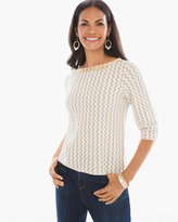 Chico's Shine Detail Beaded Pullover