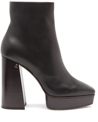 Jimmy Choo Bryn 125 Leather Boots - Black