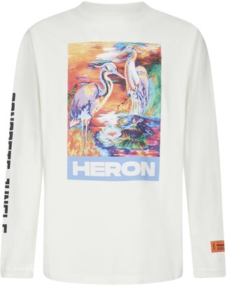 Heron Preston Herons Print Long Sleeves Cotton T-shirt