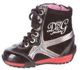 Dolce & Gabbana Girls' Suede High-Top Sneakers