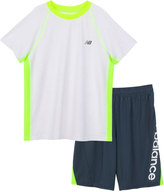 New Balance Boys 4-7 Performance Mesh Colorblocked Tee & Shorts Set