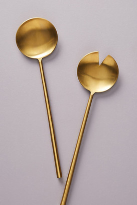 Anthropologie Streamlined Serving Set By Gather by in Gold Size SET OF 2