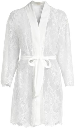 Jonquil Sara Scalloped Lace Short Robe
