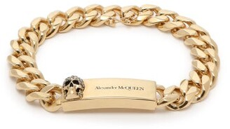 Alexander McQueen Skull-plaque Chain Bracelet - Womens - Gold