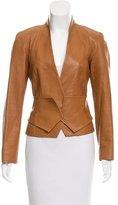 Carolina Herrera Leather Belted Jacket
