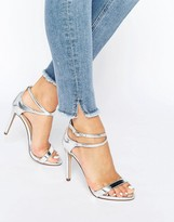 Call it SPRING Staval Heeled Strappy Ankle Wrap Sandal
