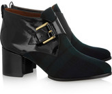 McQ by Alexander McQueen Leather and tartan twill ankle boots