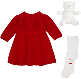 Emile et Rose Baby Knit Dress and Tights, Red