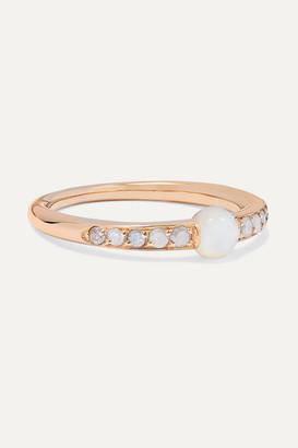 Pomellato M'ama Non M'ama 18-karat Rose Gold, Mother-of-pearl And Diamond Ring - 13