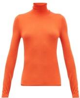 Gabriela Hearst Costa Cashmere-blend Roll-neck Sweater - Womens - Orange