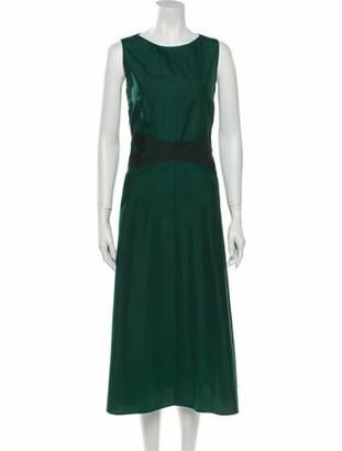 Akris Scoop Neck Long Dress Green